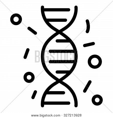 Immune Dna Icon. Outline Immune Dna Vector Icon For Web Design Isolated On White Background