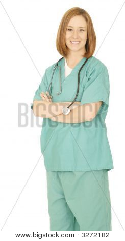 Nurse Standing And Smiling