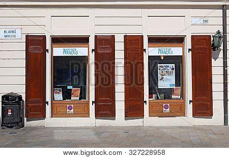Bratislava, Slovakia - September 03, 2019: French Institute On Sedlarska 358/7 Street. It Was Founde