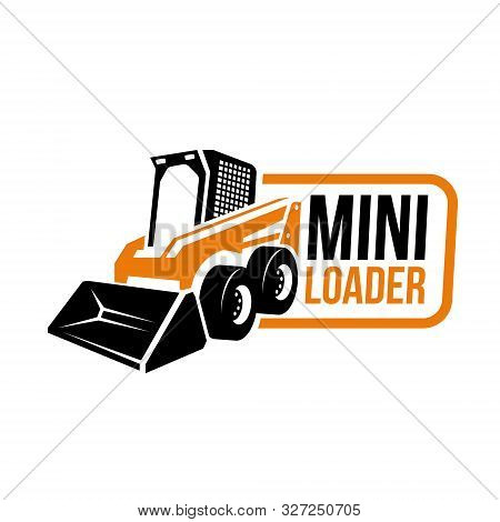 Mini Loader Machine Abstract Vector Logo Emblem