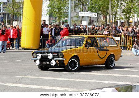 Leiria, Portugal - April 22: Marco Costa Drives A Opel Kadett Van During Leiria City Slalom 2012, In