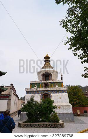 Kumbum Monastery, Ta'er Temple A Tibetan Buddhism Monastery In Huangzhong County, Xining Qinghai Chi