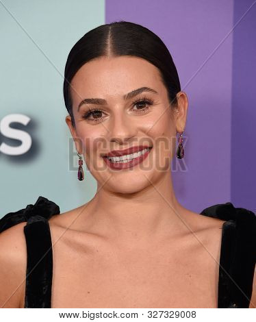LOS ANGELES - OCT 10:  Lea Michele arrives for the amFAR Gala Los Angeles 2019 on October 10, 2019 in Hollywood, CA