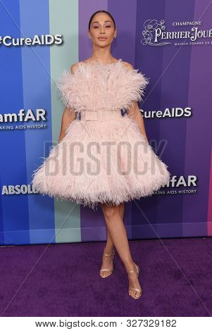 LOS ANGELES - OCT 10:  Cara Santana arrives for the amFAR Gala Los Angeles 2019 on October 10, 2019 in Hollywood, CA