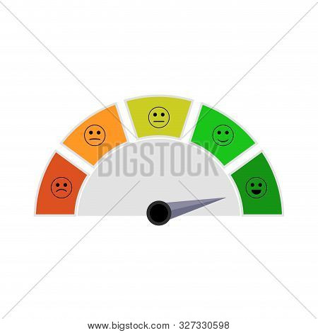 Indicator With Smile For Get Mortgage In Bank. Illustration Finance Indication Report, High Level, D