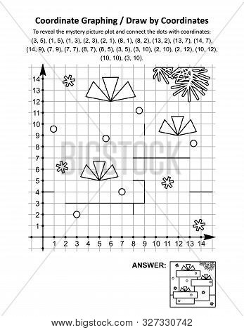 Coordinate Graphing, Or Draw By Coordinates, Math Worksheet With Gift Boxes: To Reveal The Mystery P