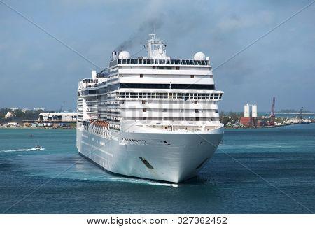The Cruise Ship Inside Nassau Harbour