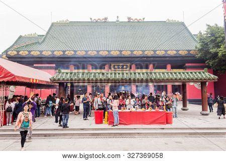 Hongkong, Hongkong - 31 March 2019 Closeup Of Che Kung Temple On 31 March, 2019.cr2