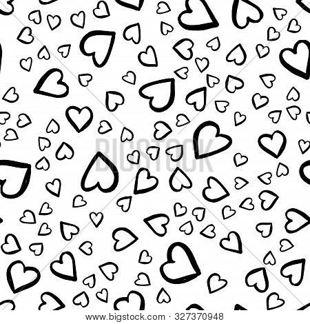 Retro Seamless Pattern. Vector Isolated Heart. Modern Simple Design. Abstract Template. Template Des