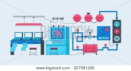 Smart Factory Concept. Modern Industrial Manufacturing Factory Manufacturing It Computing Production