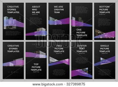 Creative Social Networks Stories Design, Vertical Banner, Flyer Template With Architecture Design. A