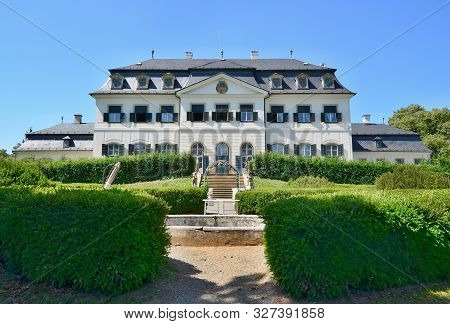 Namest Na Hane Chateau, An Early French-style Building In The Middle Of A Circular Park, From Which