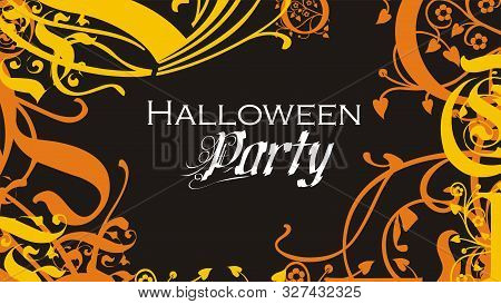 Halloween Flyer Or Poster Abstract Ornamented Background Vector Illustration