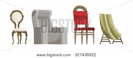 Chair Vector Comfortable Seat For Interior Style. Design Of Modern Chair And Armchair Illustration S