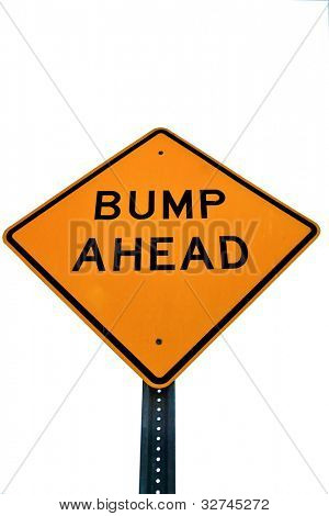 Road sign bump ahead