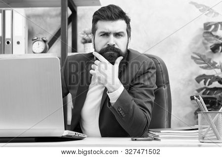 Manager Solving Business Problems. Businessman In Charge Of Business Solutions. Developing Business