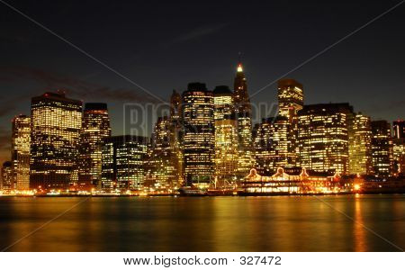 New York City With Reflections On River