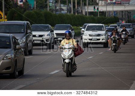 Private Motorcycle, Honda On Highway Road