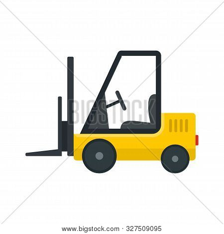 Port Forklift Icon. Flat Illustration Of Port Forklift Vector Icon For Web Design