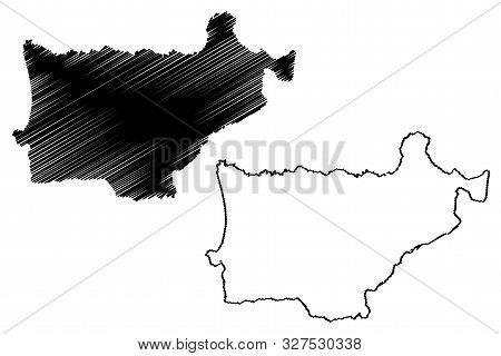 Akkar Governorate (lebanese Republic, Governorates Of Lebanon) Map Vector Illustration, Scribble Ske