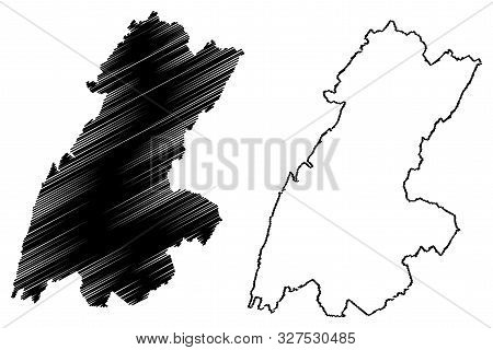 Beqaa Governorate (lebanese Republic, Governorates Of Lebanon) Map Vector Illustration, Scribble Ske