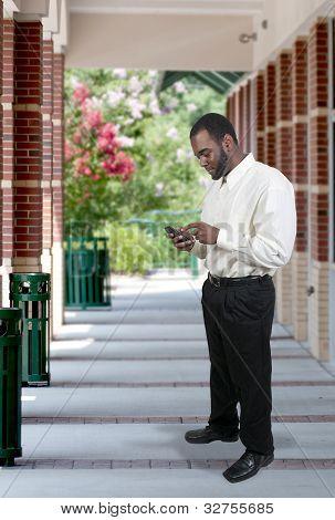 Business Man Texting