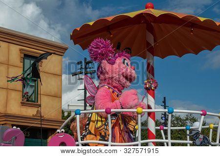 Orlando, Florida. October 5, 2019. Abby Cadabby In Halloween Sesame Street Party Parade At Seaworld
