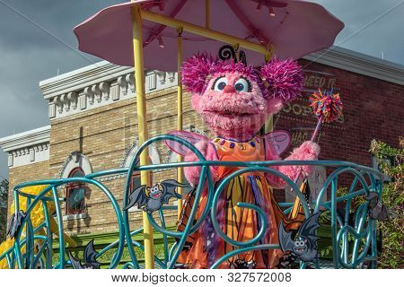 Orlando, Florida. October 5, 2019. Abby Cadabby In Sesame Street Party Parade At Seaworld 22