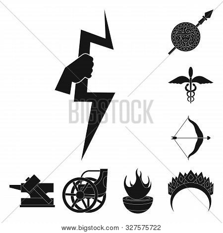 Vector Design Of Religion And Myths Sign. Collection Of Religion And Greek Stock Symbol For Web.