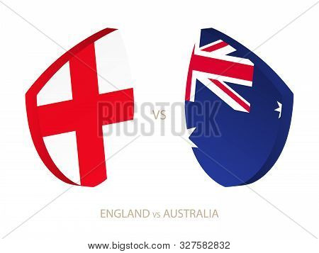 England V Australia, Icon For Rugby Tournament. Rugby Vector Icon.