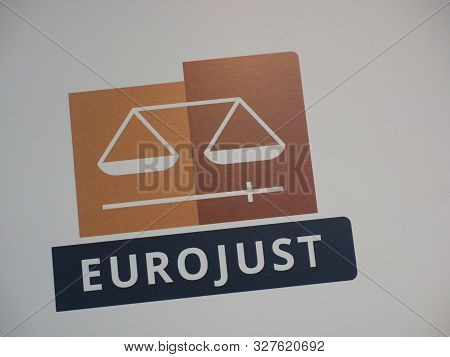 The Hague, Netherlands - September 26, 2019: The Wordmark Of The European Justice Organisation Euroj