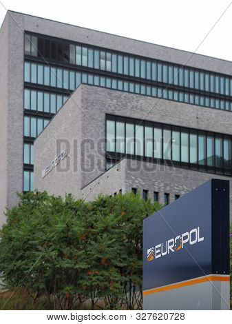 The Hague, Netherlands - September 27, 2019: Europol Head Office In The Hague.