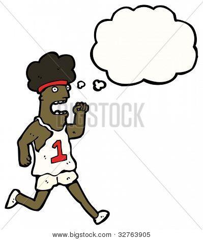 cartoon marathon runner