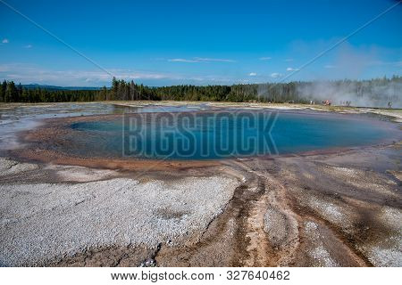 Turquoise Pool In Yellowstone National Park