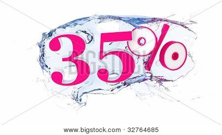 35 percent Summer Sale Or Discount Tags