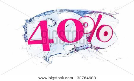 40 percent Summer Sale Or Discount Tags