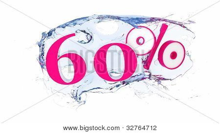 60 percent Summer Sale Or Discount Tags