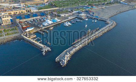Callao, Peru - October 13, 2019: Bow View Of The Bap Abtao (ss-42) Submarine Of The Peruvian Navy Mo