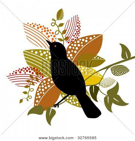 oriole bird with foliage