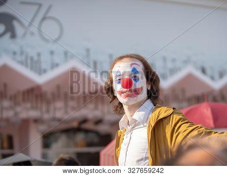 Joker at the 76 Venice International Film Festival 2019. Joker red carpet. Venice (Italy), August 31st, 2019