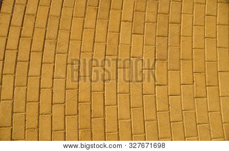 yellow paving tile for background or texture