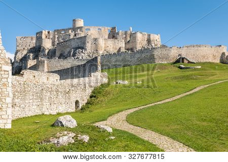 Ruins Of Spissky Hrad - Spis Castle In Eastern Slovakia, Central Europe