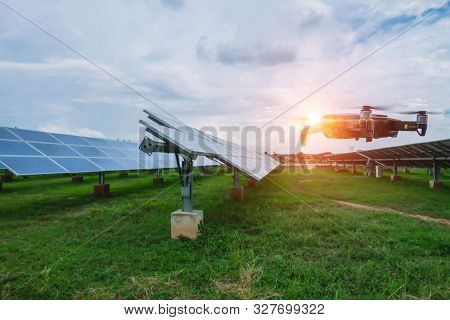 Drone Flying Over Solar Cells, This Technology Will Help Reduce The Time To Check The System, Survey