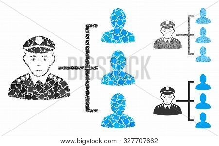 Officer Subordinates Composition Of Rugged Parts In Various Sizes And Color Tinges, Based On Officer