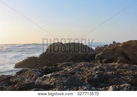 Beach Close To California Highway 1, Fort Bragg, California, Usa