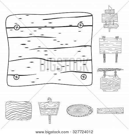 Vector Design Of Hardwood And Material Icon. Collection Of Hardwood And Wood Stock Vector Illustrati