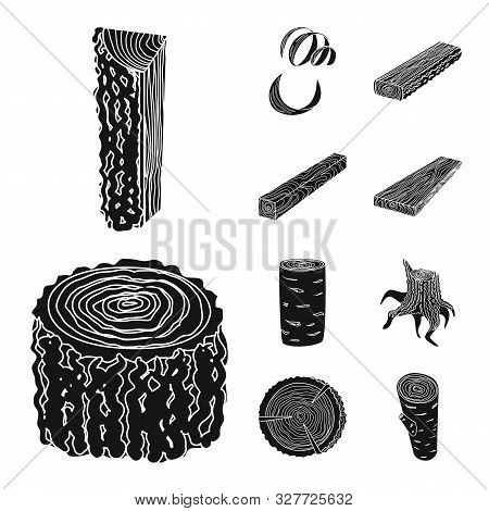 Isolated Object Of Hardwood And Construction Sign. Collection Of Hardwood And Wood Stock Vector Illu