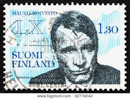 Postage stamp Finland 1983 Mauno Henrik Koivisto, President of F