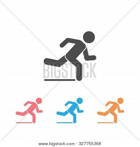 Runner Icon Set. Logo Element Vector Illustration. Runner Symbol Design. Colored Collection. Runner