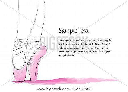 Dancer's Feet En Pointe